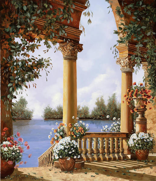 Wall Art - Painting - Le Arcate Sul Lago by Guido Borelli