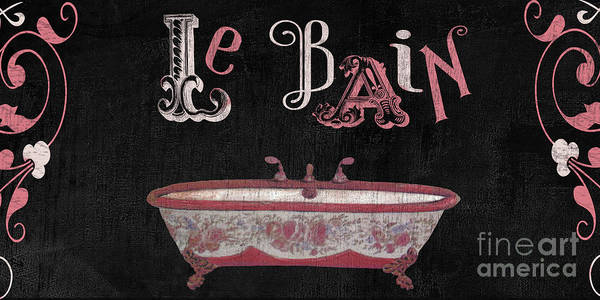 Washroom Wall Art - Painting - Le Bain Paris Sign by Mindy Sommers