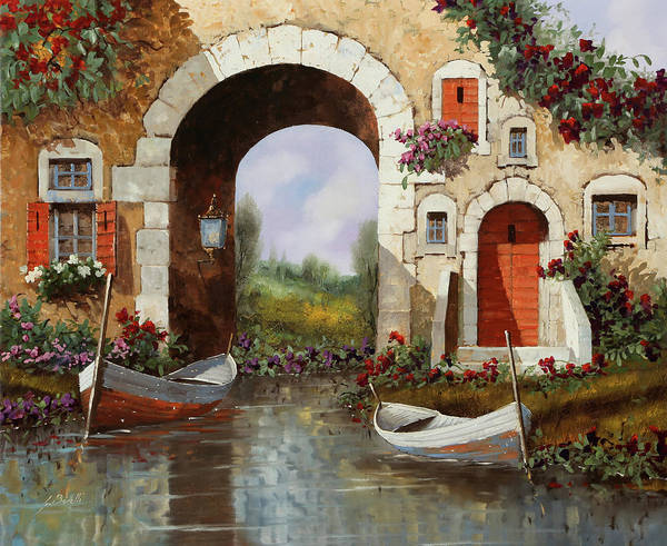 Wall Art - Painting - Le Barche Sotto L'arco by Guido Borelli