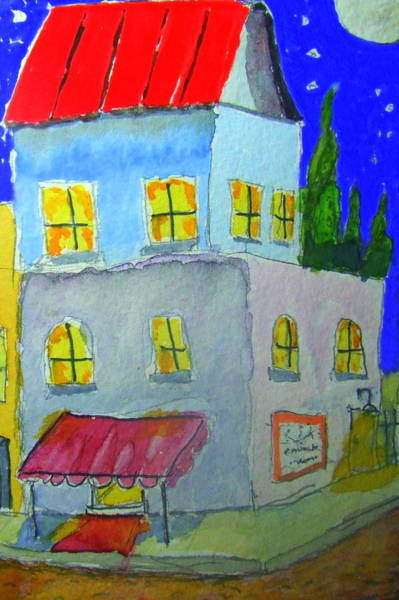 James Johnson Painting - Le Bistro by James Johnson