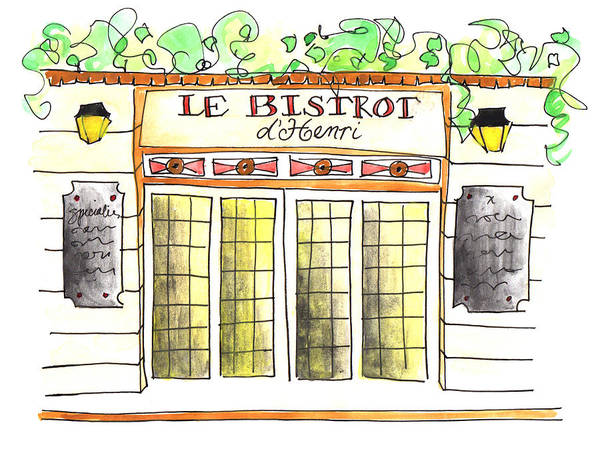 Painting - Le Bistrot Henri by Anna Elkins