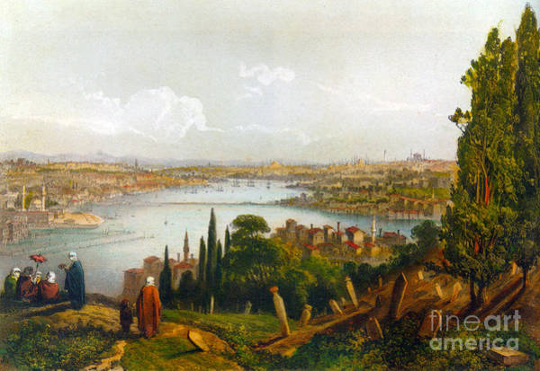 Painting - Le Bosphore , Golden Horn Istanbul by Celestial Images