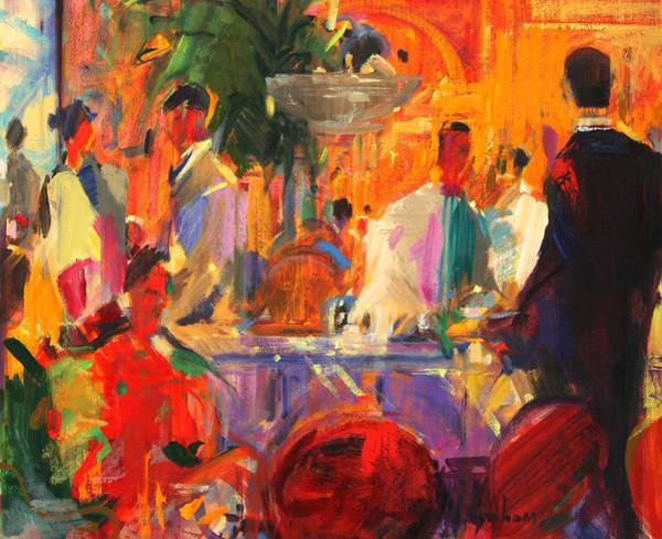 Parisian Cafe Painting - Le Bristol  Paris by Peter Graham