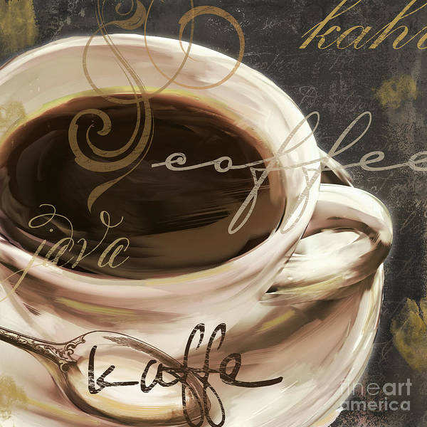 Mocha Painting - Le Cafe Dark by Mindy Sommers