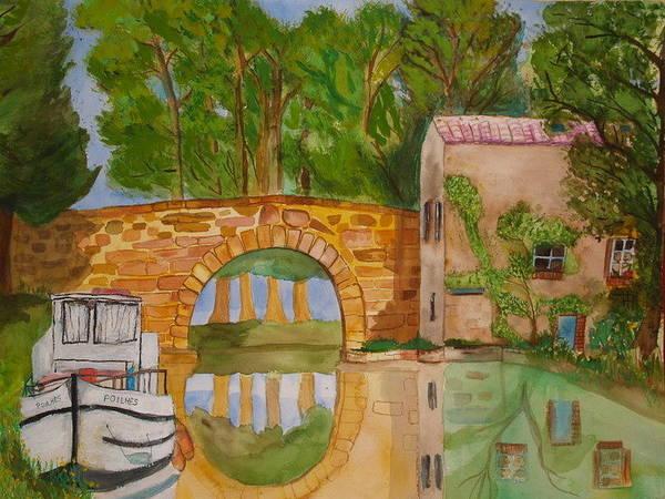 Le Canal Du Midi Art Print by Aline Kala