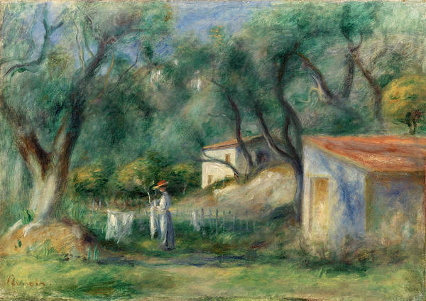 Wall Art - Painting - Le Cannet by Pierre-Auguste Renoir