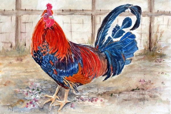 Painting - Le Chantecler- King Of The Roost by Anna Jacke