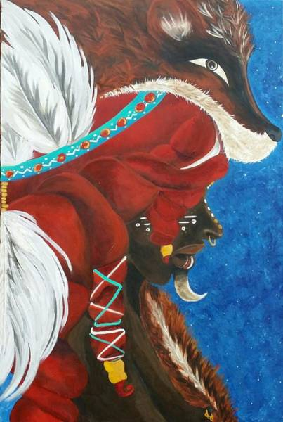 Comission Painting - Le Chasseur  by Tina B