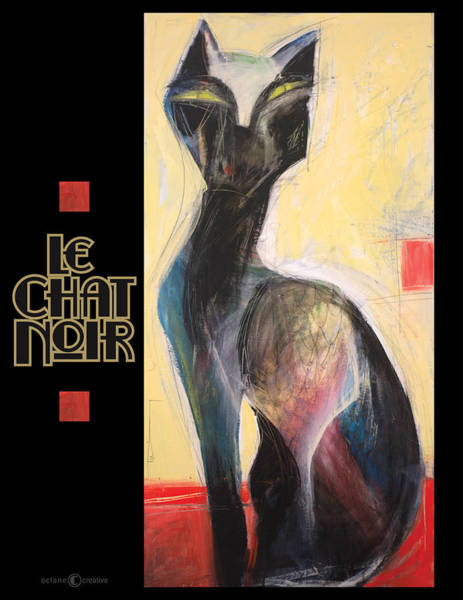 Painting - Le Chat Noir Poster by Tim Nyberg