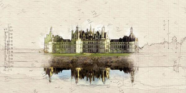 Chs Digital Art - Le Chateau De Chambord by Ronald Bolokofsky
