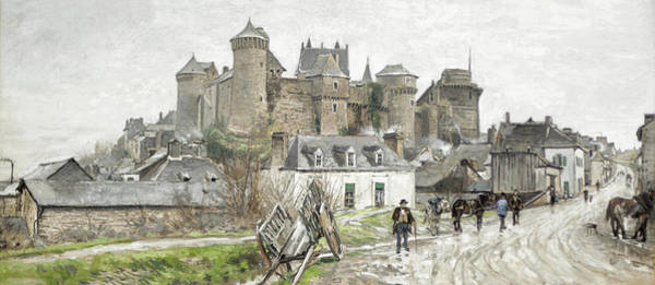 Chateau Drawing - Le Chateau by Ludovic Piette