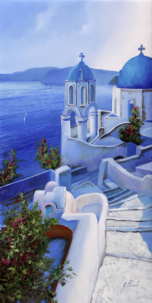Church Wall Art - Painting - Le Chiese Blu by Guido Borelli