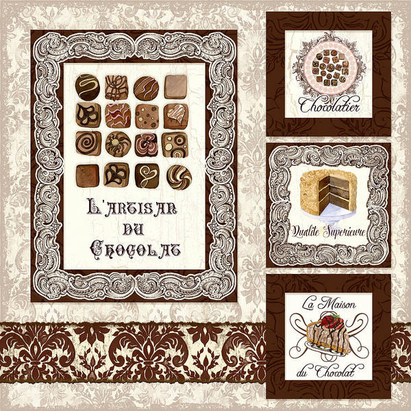 Hand Made Painting - Le Chocolatier - L Artisan Du Chocolat by Audrey Jeanne Roberts