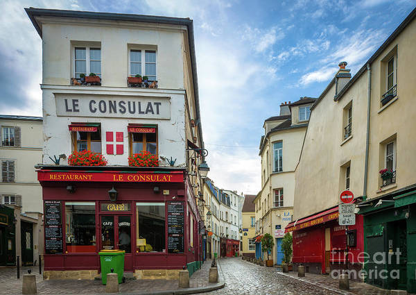 Storefront Photograph - Le Consulat by Inge Johnsson