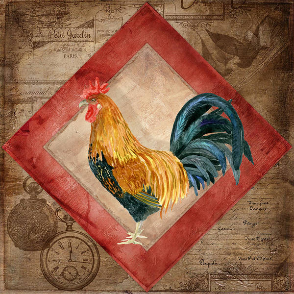 Painting - Le Coq - At The Rising Sun by Audrey Jeanne Roberts