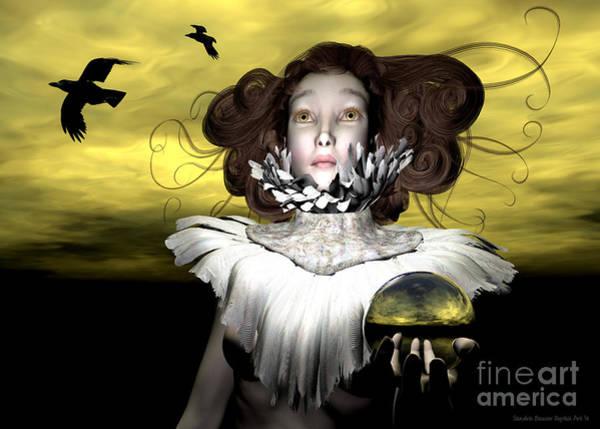 Wall Art - Digital Art - Le Corbeau by Sandra Bauser Digital Art
