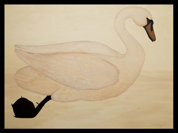 Wall Art - Painting - Le Cygne by Carrie Jackson