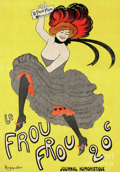 Wall Art - Painting - Le Frou Frou Vintage Poster By Leonetto Cappiello, 1899 by Leonetto Cappiello