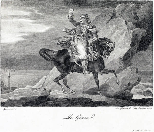 Drawing -  Le Giaour Or The Infidel by Theodore Gericault