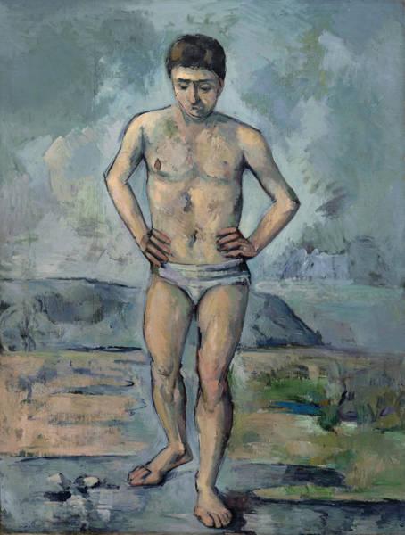 Painting - Le Grand Baigneur  by Paul Cezanne