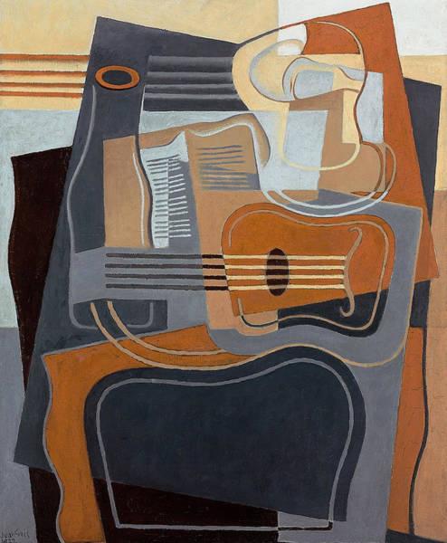 Spanish Guitar Wall Art - Painting - Le Gueridon by Juan Gris
