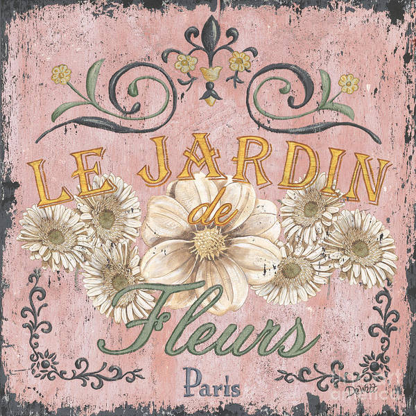 France Wall Art - Painting - Le Jardin 1 by Debbie DeWitt