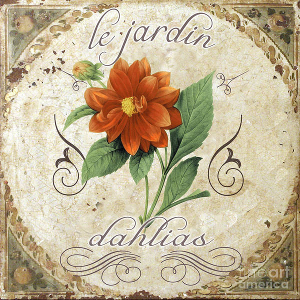 Jardin Wall Art - Painting - Le Jardin Dahlias by Mindy Sommers