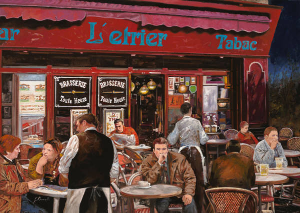 Brasserie Wall Art - Painting - Le Mani In Bocca by Guido Borelli