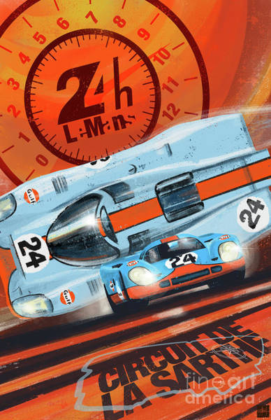 Wall Art - Painting - Le Mans 24h by Sassan Filsoof