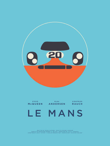 Wall Art - Digital Art - Le Mans Movie - A by Ivan Krpan