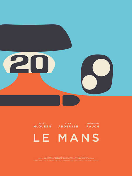Wall Art - Digital Art - Le Mans Movie - C by Ivan Krpan