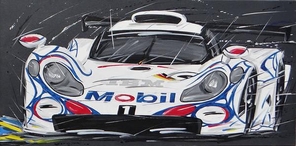 Alfa Romeo Painting - Le Mans Porsche 911 Gt 1995 by Roberto Muccilo