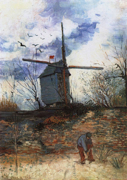 Parisian Cafe Painting - Le Moulin De La Galette, 1886 03 by Vincent Van Gogh