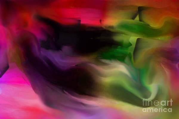 Abstrait Digital Art - Le Mur / The Wall by Carole Thivierge