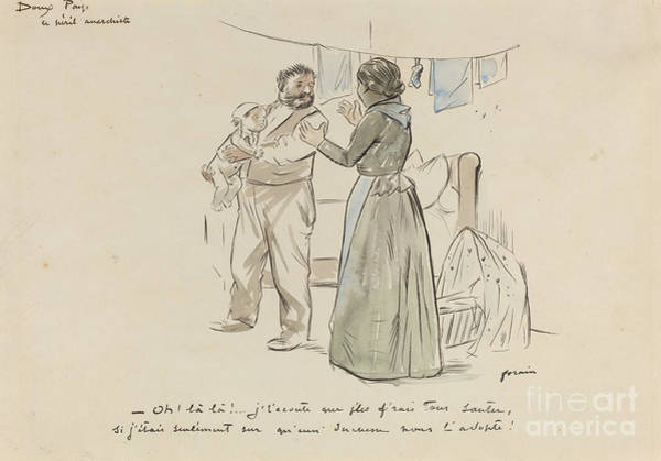 Wall Art - Drawing - Le Peril Anarchiste by Jean-louis Forain