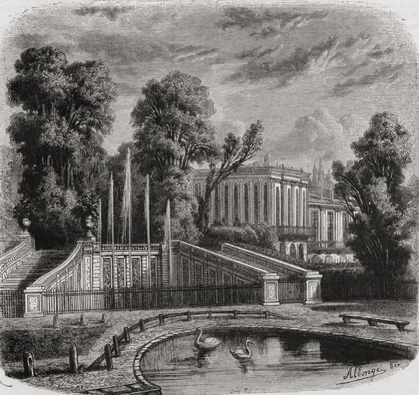 Wall Art - Drawing - Le Petit Trianon At Versailles by Vintage Design Pics