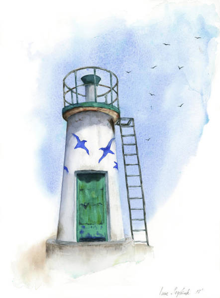 Wall Art - Painting - Le Phare by Zapista Zapista