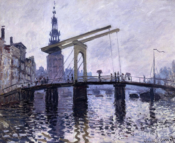 Amsterdam Painting - Le Pont, Amsterdam by Claude Monet