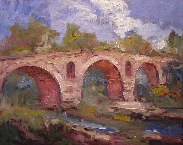Southern France Painting - Le Pont Julien Provence France by R W Goetting