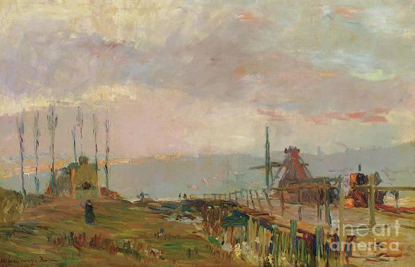 Wall Art - Painting - Le Pont Rustique Pres De Rouen by Albert-Charles Lebourg