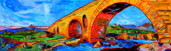 Wall Art - Painting - Le Pont St Julien by Alison Stevenson