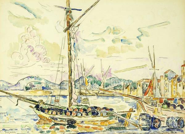 Tranquility Painting - Le Port De Saint Tropez by Paul Signac