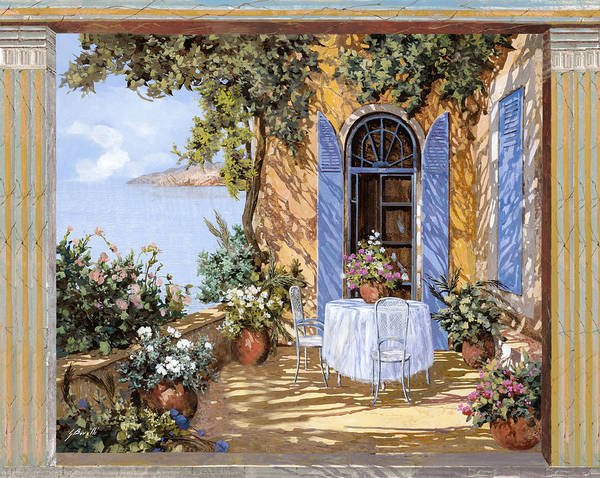 Blues Painting - Le Porte Blu by Guido Borelli