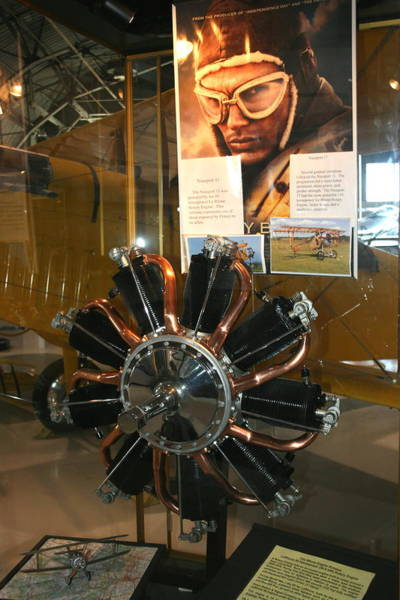 Photograph - Le Rhone Rotary Engine For Nieuport 11 by David Dunham