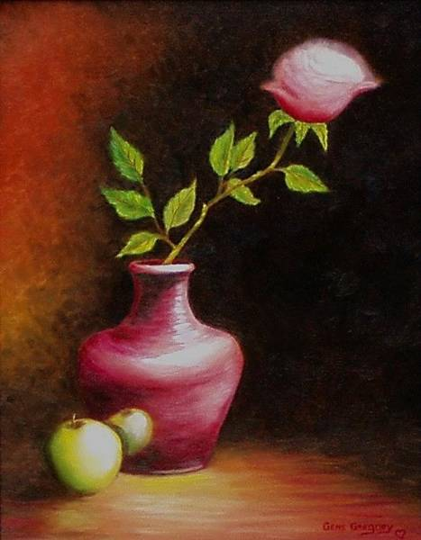 Painting - Le Rose by Gene Gregory
