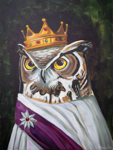 Owl Painting - Le Royal Owl by Nathan Rhoads