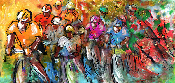 Painting - Le Tour De France Madness 03 by Miki De Goodaboom