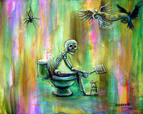 Wall Art - Painting - Le Tub V by Heather Calderon