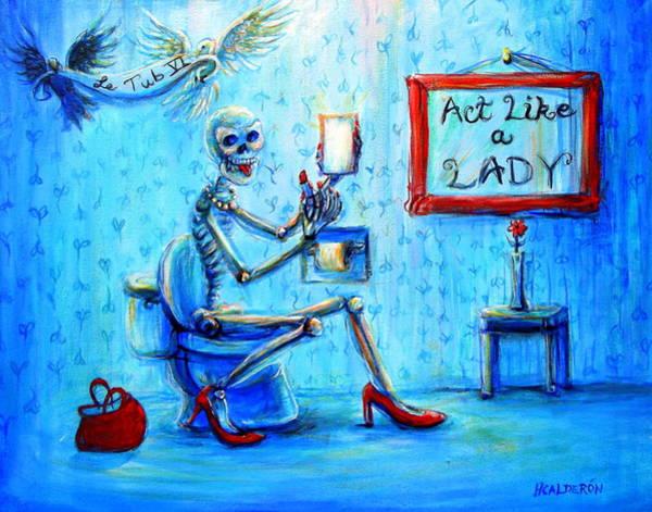 Wall Art - Painting - Le Tub Vi by Heather Calderon