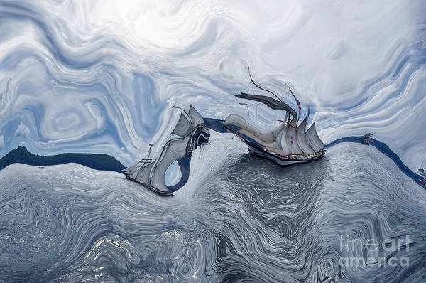 Sealife Wall Art - Digital Art - Le Vent Dans Les Voiles 07a by Variance Collections
